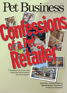 Cover from Pet Business Magazine Confessions of a Pet Retailer